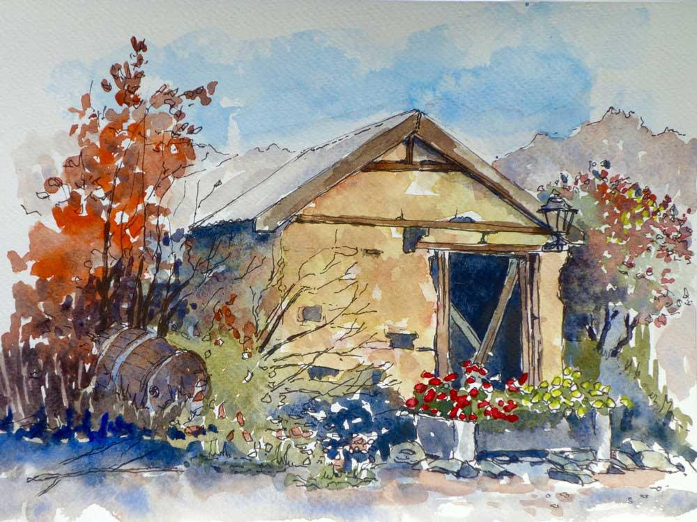 Cob Hut, Alexandra by Quilliam Collister