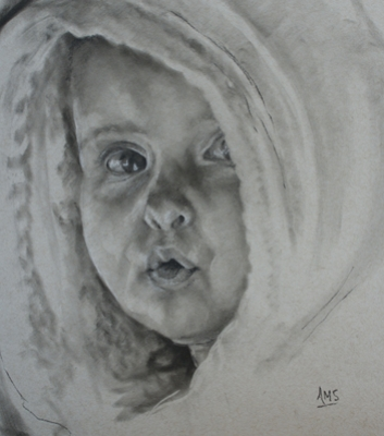 Charcoal drawing by Anna Schoolderman