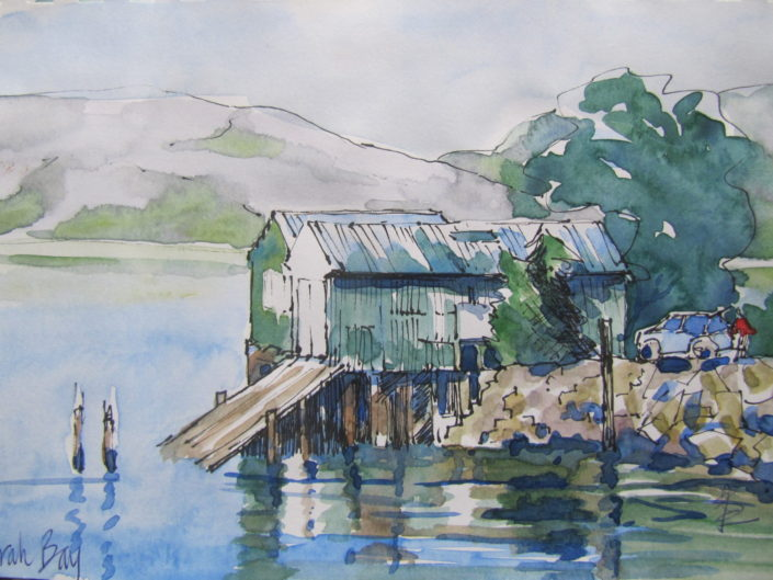 Boat Shed by Sue Simpson