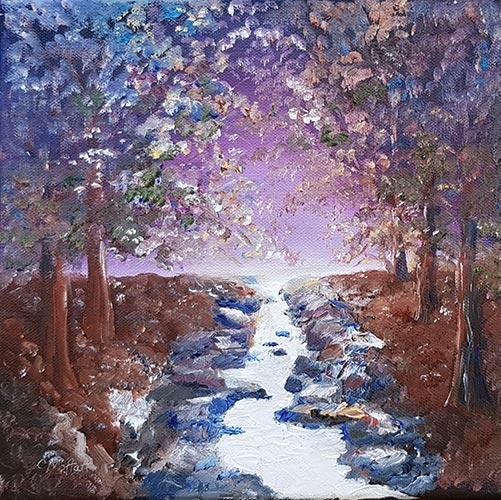 Painting by Carol Moffatt