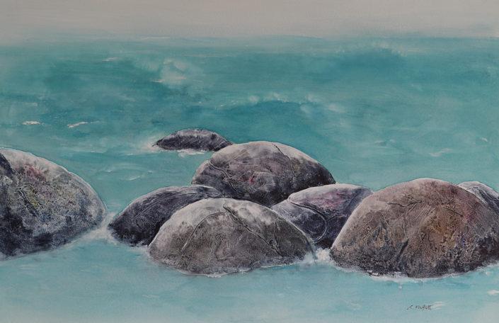Gifts from Araiteur, the Moraki Boulders by Carol Moffatt