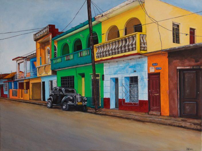 """""""Cuban Street Scene"""" by Joanna Webber"""