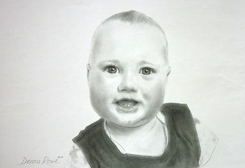 Pencil Portrait by Dennis Rowe
