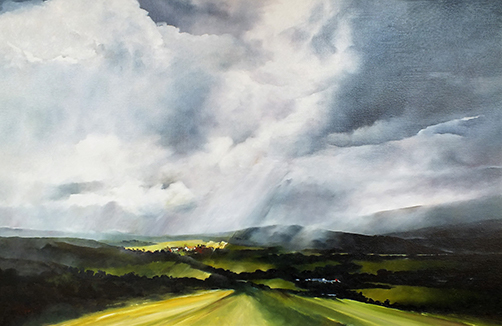 Painting by Gray Leonard