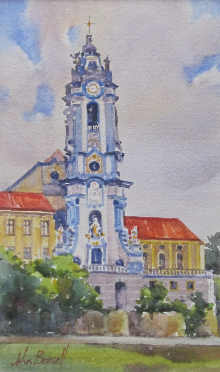 Baroque Church Tower, Durnstein by John Brasell