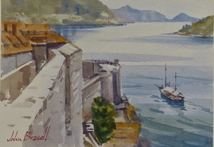 Dubrovnik Fishing Boat by John Brasell