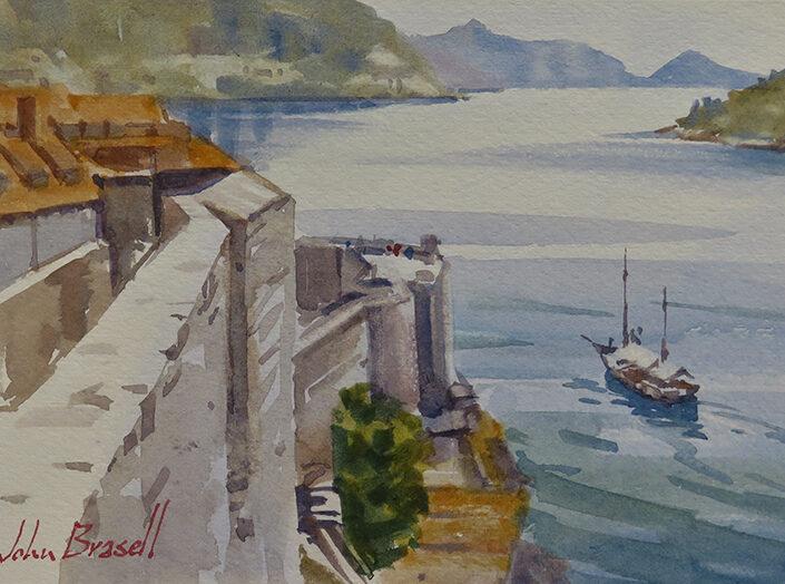 Dubrovnik Fishing Boat by John Brasell