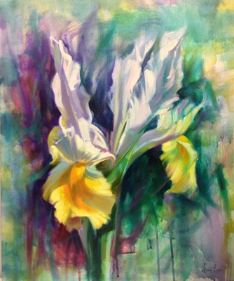 """""""Iris"""", oil painting by Livia Dias"""