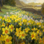 Daffodills, oil painting by Livia Dias