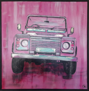 Pink Lanrover by Gemma Bell