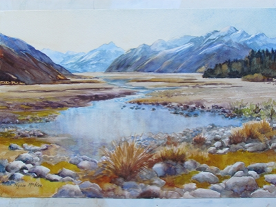 """Clyde River and Mt McCrea"" by Ngaio McKee"