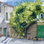 Old Street, Croatia Watercolour by Quilliam Collister