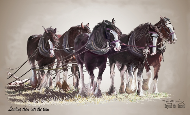"""Leading Them Into the Turn"" by Ray Erridge"