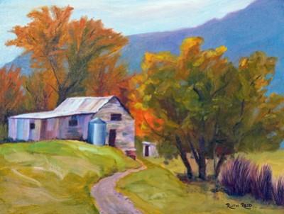 """""""Old Barn"""" by Ruth Reid"""