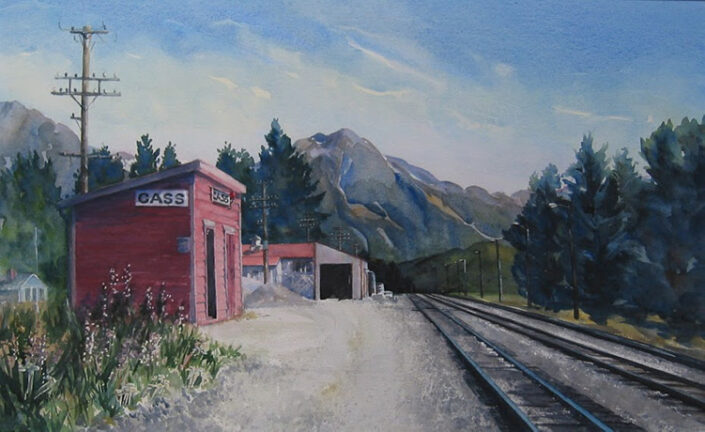 Old Cass Station by Sue Simpson