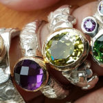 Rings crafted by Sarah Thomas