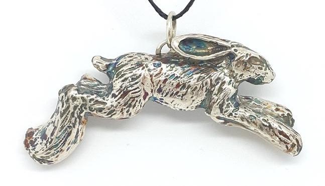 Rabbit pendant by Sarah Thomas