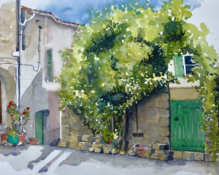 """Old Street, Croatia"" Watercolour by Quilliam Collister"