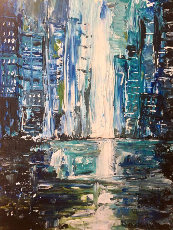Water Cityscape by Corina Hazlett