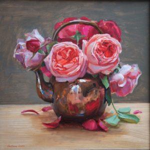 Teapot of Roses by Svetlana Orinko