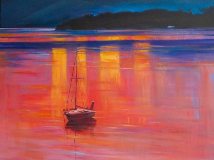 Colour on the Water, Charteris Bay by Sue Currie