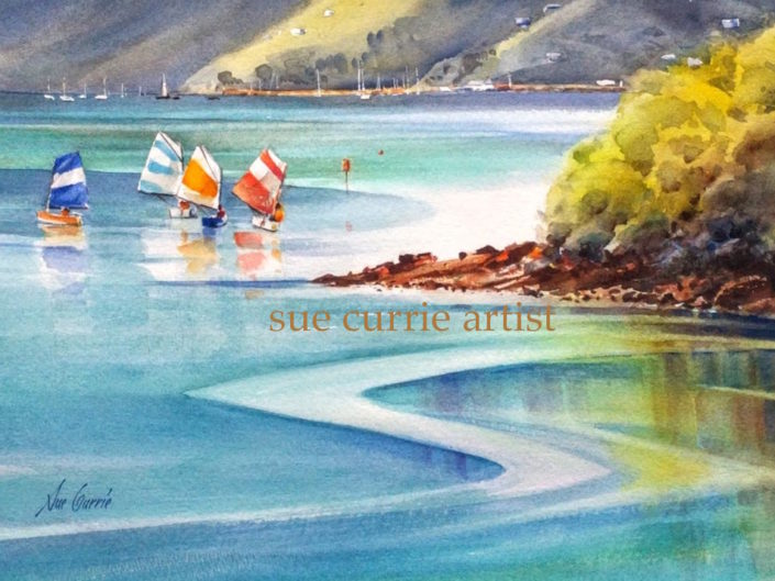 Holidays Lyttelton Harbour by Sue Currie