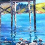 Under Dalys Wharf Akaroa by Sue Currie