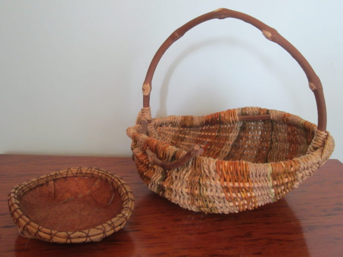 Baskets by Christchurch weaver Helen P Stevenson