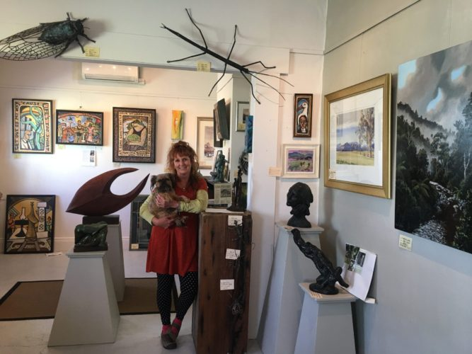 Inside gallery with Debbie Templeton-Page