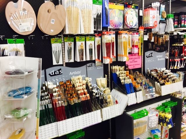 Art supplies at Paper Tree