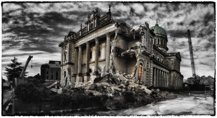 Christchurch Basilica after the Earthquake, photography by Scott Fowler