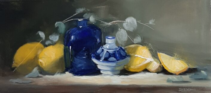 Lemons and Blue by Sandie Brown