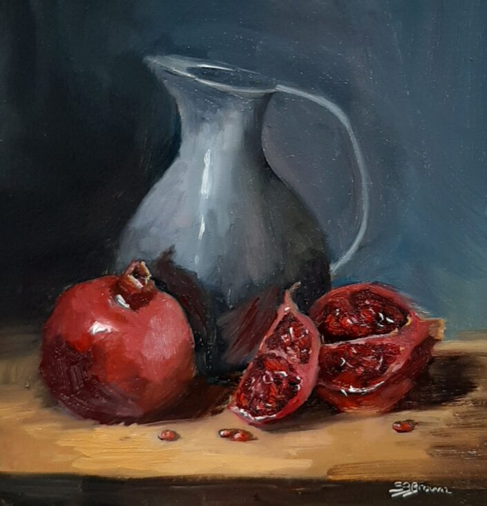 Pomegranates by Sandie Brown