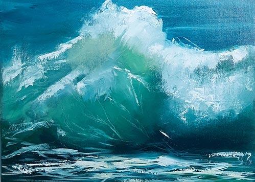 Summer Wave study by Sandie Brown