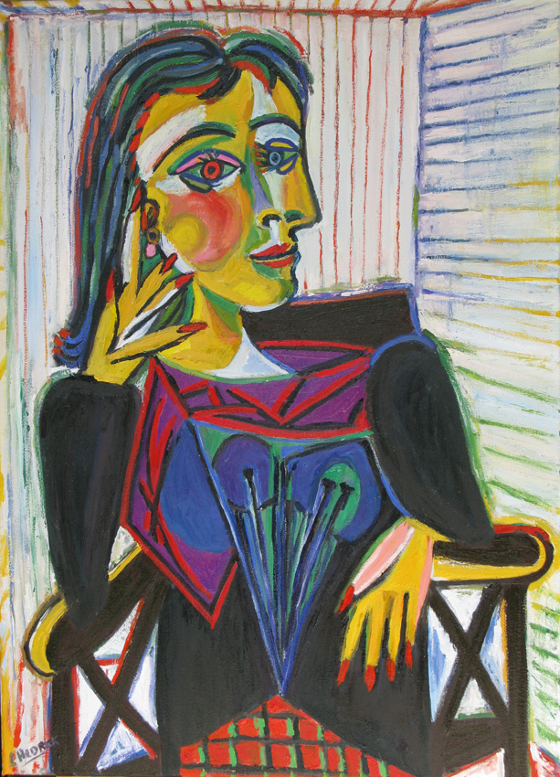 Dora Maar Seated after Picasso by L M Hedrick