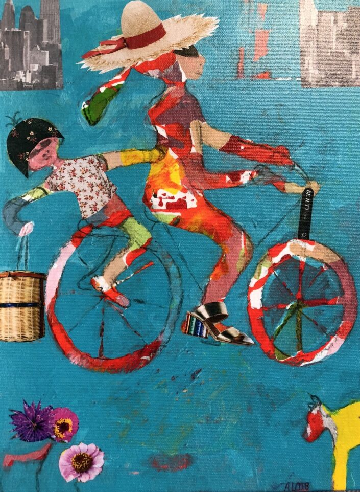 Riding to School, Mum and Me by Alison Lowe