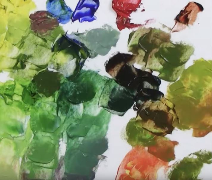 How to mix green paint by Livia Dias