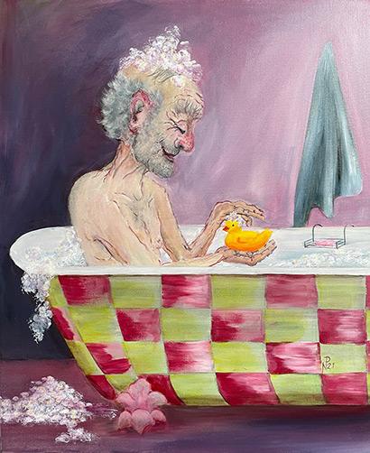 The Chequered Bath by Diana Nicholson-Plank