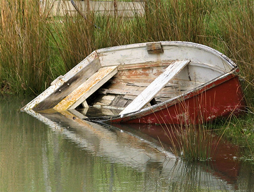 Rustic Boat by Dave Shepherd