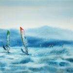 Windsurfing on Waves by Kasia Wiercinska