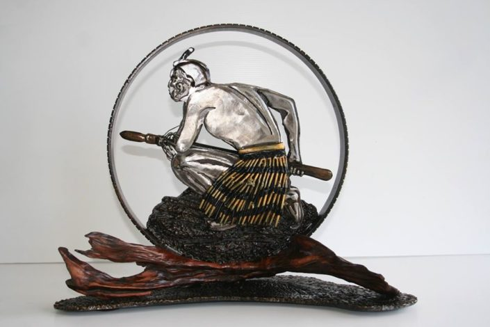 Coin, sculpture by Mark Larsen