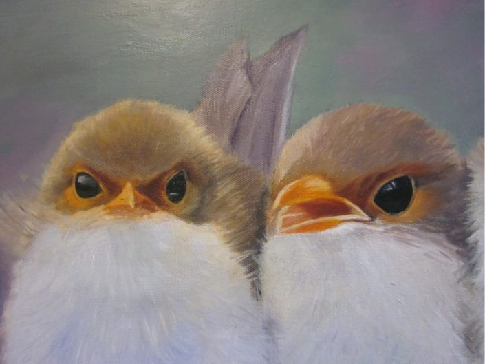 Painting by Ping Burtt