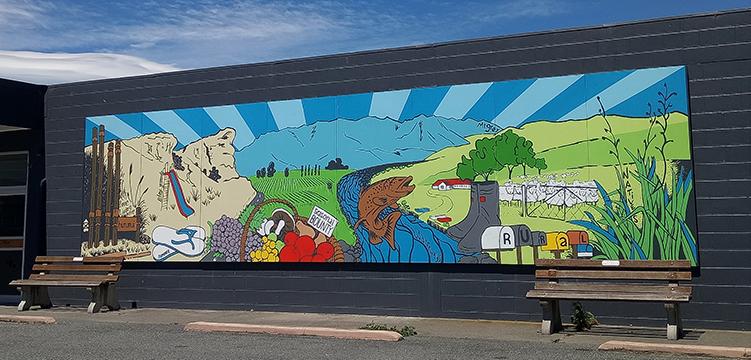 Hurunui mural by Margot Korhonen