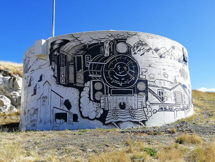 Waikairi mural art by Margot Korhonen
