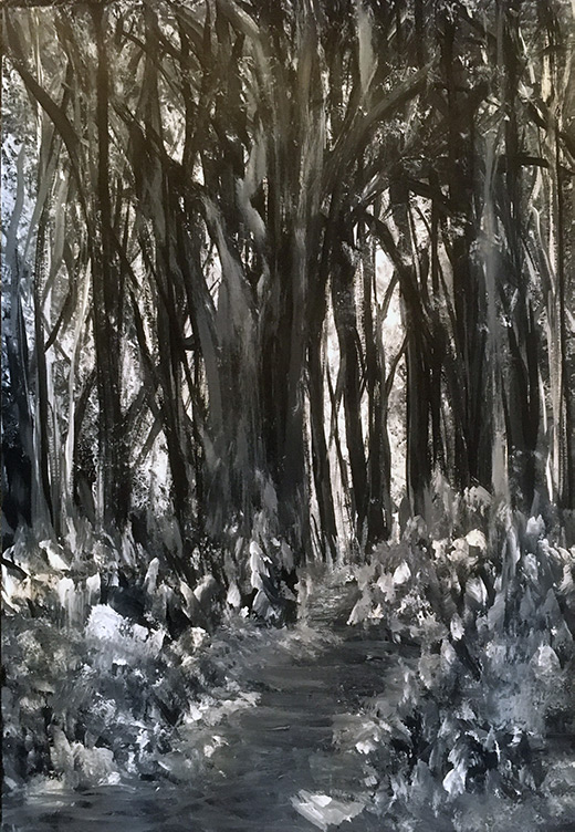 Forest Walk, painting by Maria Sinclair