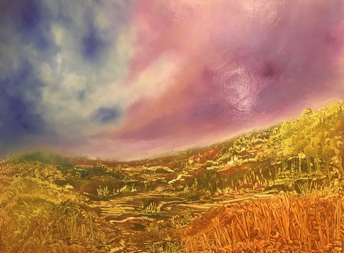 Skyline, painting by Maria Sinclair