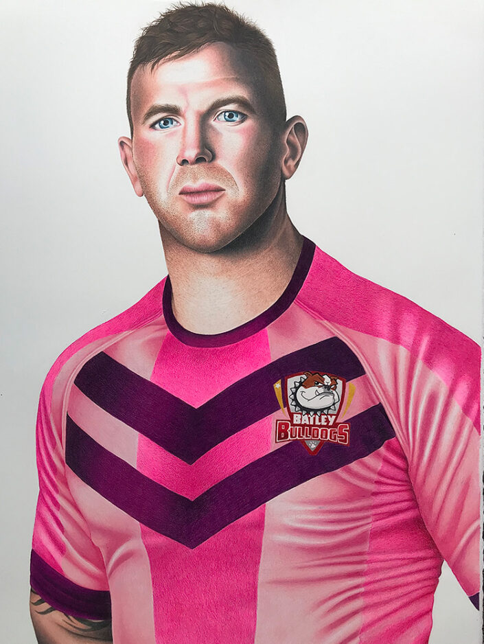 Keegan Hirst, painting by Seth Dale