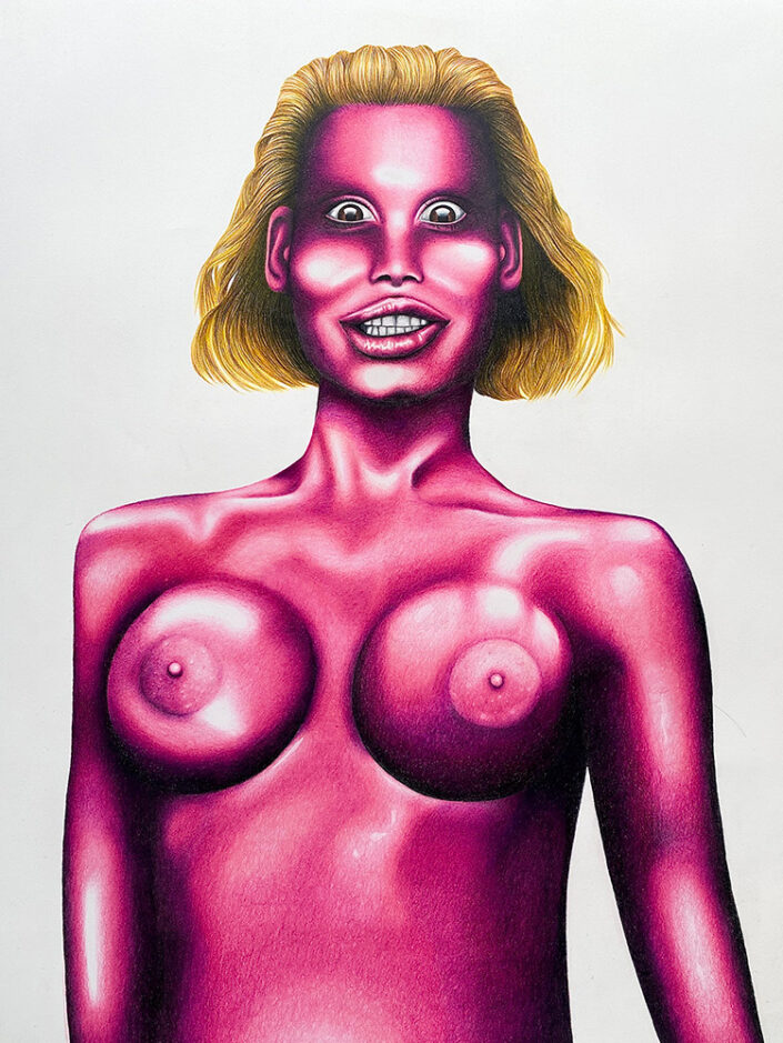 Pink Amanda, painting by Seth Dale