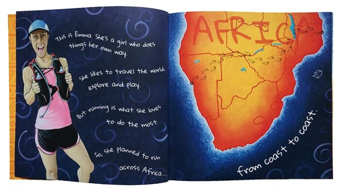The Girl Who Ran Across Africa by Emma Timmis