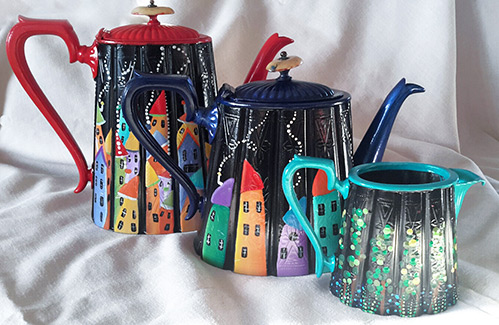 Pewter pots by Chris Threadwell